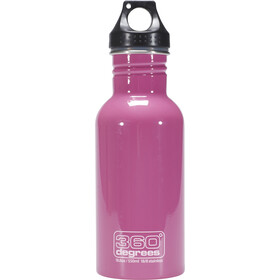 360° degrees Stainless Bidon 0.5 l, pink